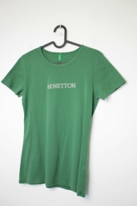 Benetton zielony t-shirt *M