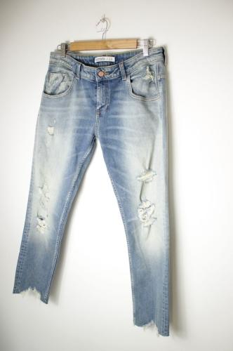 spodnie metaliczne zara